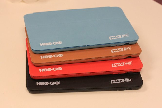 White logo on Leather iPad Smart Cases for HBO Go
