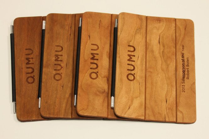 Engraved Wooden iPad mini Cover