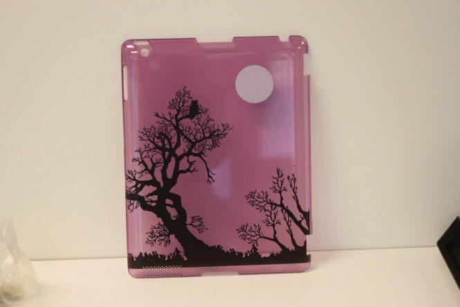 Custom Printed Translucent Purple iPad Back Case
