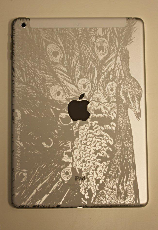 Peacock iPad Air Engraving 1