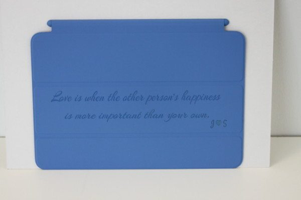 Engraved iPad mini Smart Cover 1