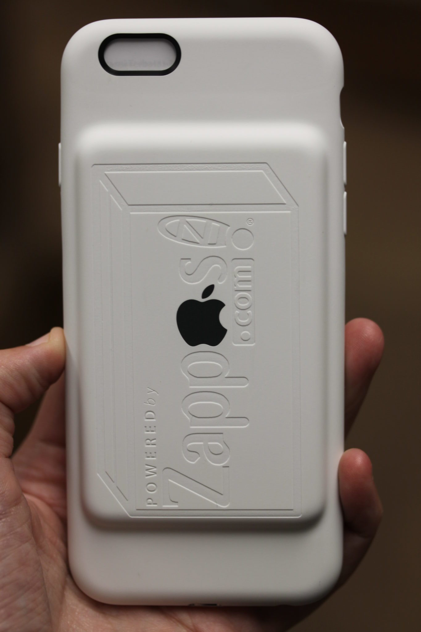 Zappos White iPhone Battery Case