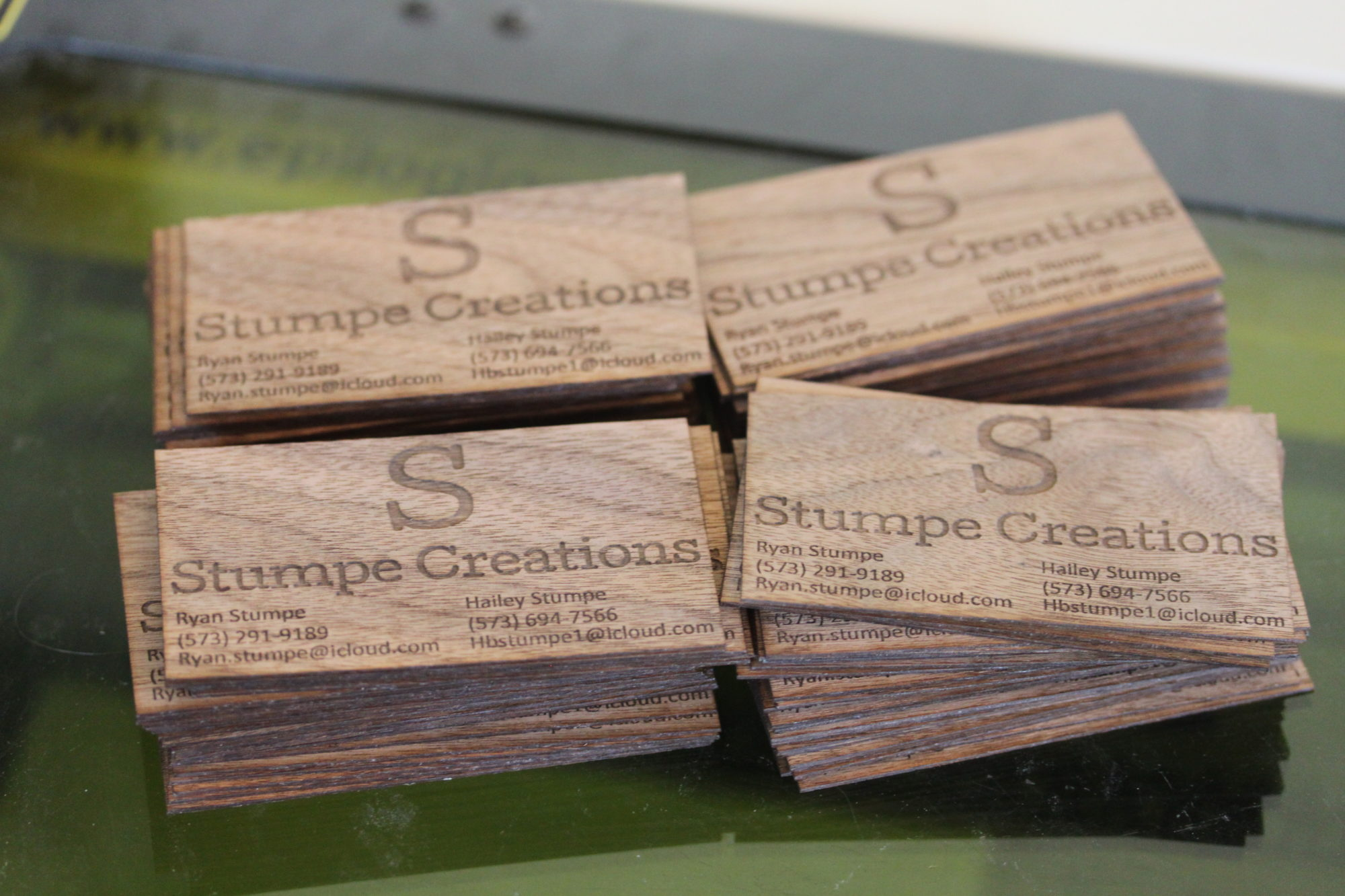 Wooden Laser Engraved Business Cards