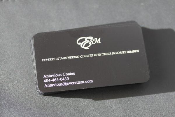 Laser Engraved Metal Business Card