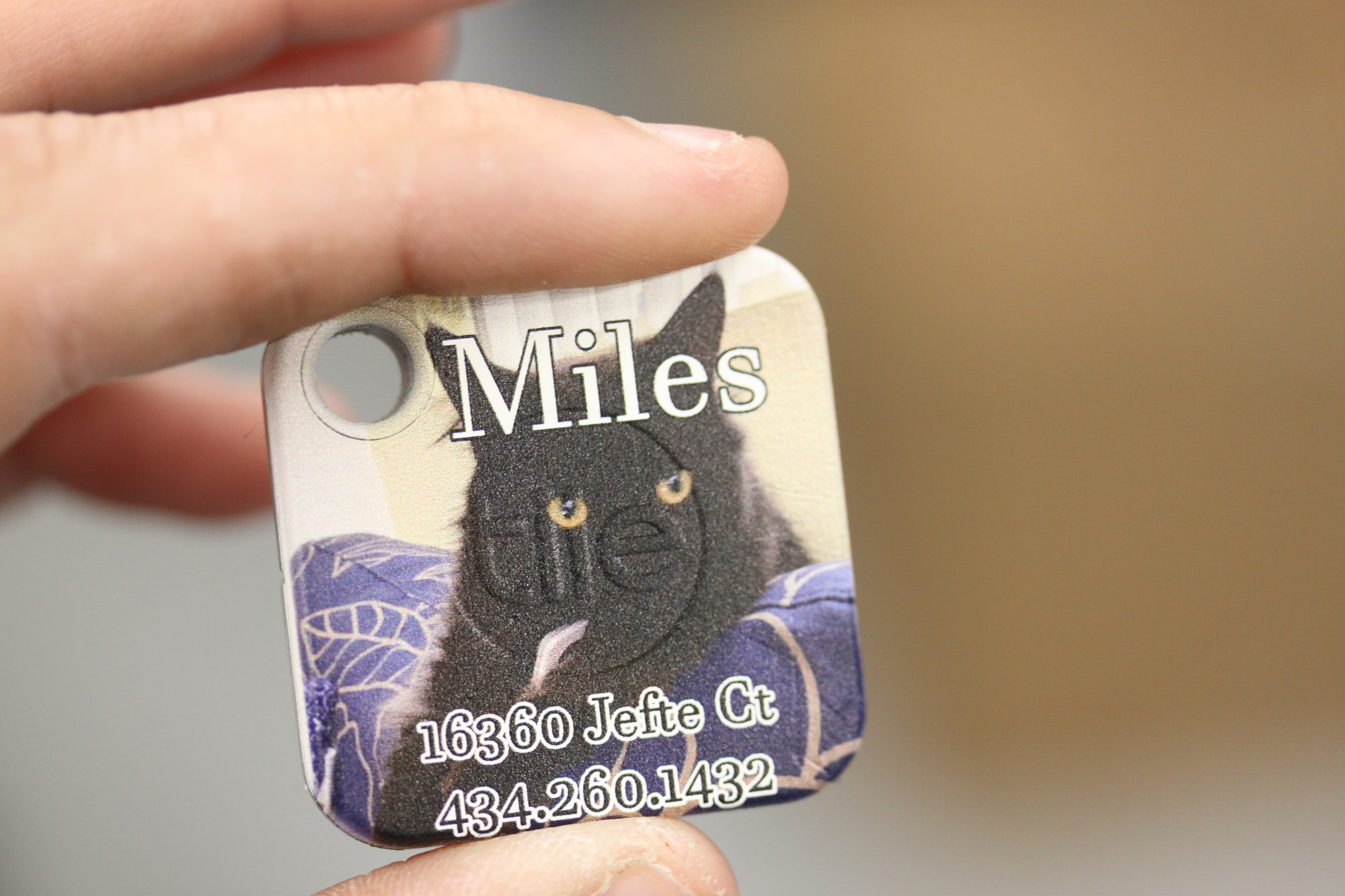 Custom Printed Tile Pet Tag